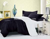 100% Polyester Microfiber Plain Dyed Black Comforter Duvet Cover Sets Bed Sheet Set