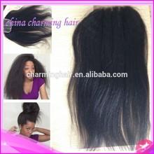 best!!! afro kinky straight virgin human hair lace closure light yaki malaysian kinky straight top closure piece 4x4
