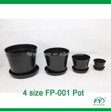4 size cheap different size plastic PP flower pots for home deocoration flowerpot