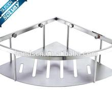 Hanging wire shelf for bathroom use,basket shelf in bathroom,single layer corner basket shower shelf