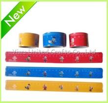 Kids Diy rubber snap bracelet crafts /fashion silicone rubber slap wristband