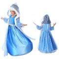 Congelados meninas vestido de noite vestido de cetim saias longas