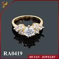 Anillos de oro de diseño para mujeres, de cobre anillo de diamantes, corazón en forma de anillo de diseños