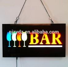 New design customized 43*23mm led epoxy resin sign