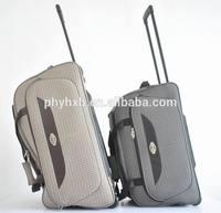 '/wheel duffle with trolley system/ wheels bag with checker fabric/ trolley bag with 2 wheels/ carry on 20'/24'