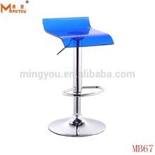 blue acrylic bar stools