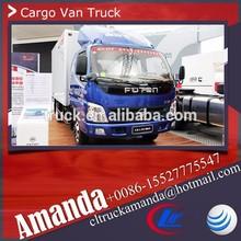 The price of Foton van, Foton 4*2 118hp small van truck