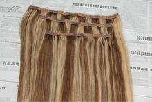ali express cheap brazilian human hair clip in hair extension