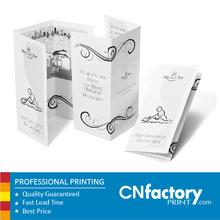 Impression de la brochure 157 g papier d'art brochure thé brochures