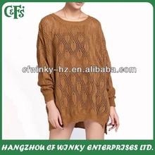 Suelta pullover nuevo estilo ganchillo hicieron punto los suéteres modelo