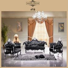 antique sofa european style three seat living room furniture