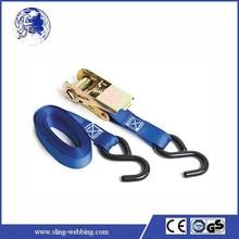 Heavy duty lashing straps china ties with S hooks