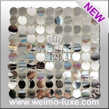 2015 Silver Sequin Panel For Luxury Wedding Decorations