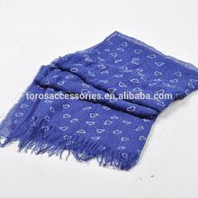 fashion love printed scarf polyester scarf