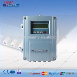 Low cost RS232 RS485 ultrasonic flowmeter / fixed ultrasonic flow meter