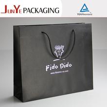 large size decoration handmade plain advertising black paper bag