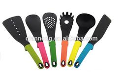 Nylon +silicone kitchenware set of 6