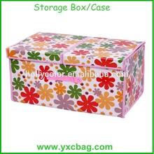 Custom Folding Flower Storage Box Two Folders Storage Case for doll