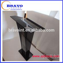 modern church podium Acrylic glass pulpit speech stand