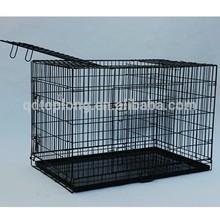 Colorful coating large folding carrier dog cage