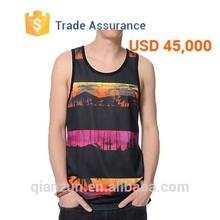 Custom Wholesale Printing Mens Tank Top