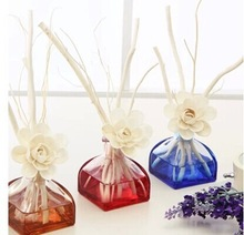Colorful,best sale with low factory price car air freshener glass diffuser bottle