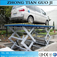 Car washing and repair lift stationary hydraulic scissor car lift for garage