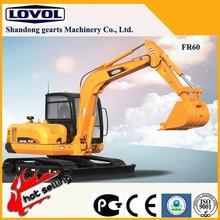 export Foton Lovol excavator,6ton crawler excavator60