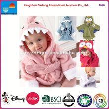 Kids Bathrobes Animal Design/hooded towel baby bathrobes/terry cotton and pattern cotton bathrobe