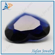 AAA grade machine cut marine heart shape glass stones for jewelry