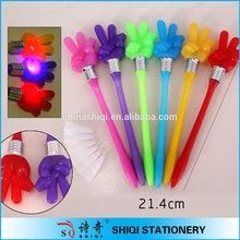 China manufacturer special finger rose led light ball pen