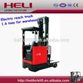Heli marca 1.6 toneladas SIT-DOWN tipo eléctrico de la carretilla retráctil