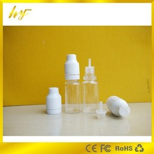 PET plastic material10ml dropper bottle for e juice with graceful tamper&child proof cap and slim drip tip