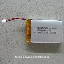 Factory rechargeable li-ion battery 3.7v 1200mah