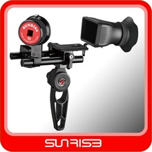 Video Camera Rig with 3X View finder Gearless Follow focus shoulder support rig