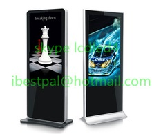 The mall stand iphone looking floor stand advertising media player