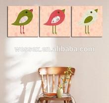 Cute cartoon bird digital canvas oil prints