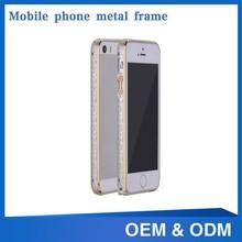luxury bumper metal aluminum hard case cover for Iphone5/5s
