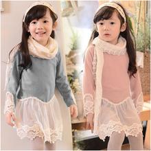 IN stock 2015 spring autumn baby girls clothes european design print cartoon mouse kid clothes