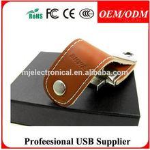 Free sample , business gift leather custom usb flash drive , an affordable USB gift, USA, Singapore