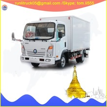 China commercial vehicle supplier for sinotruck wangpai CDW1070H1PEV 2ton electric cargo van for sale in bolivia