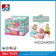HC249054 kids plastic kitchen toy set light music