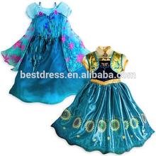 2015 new frozen fever anna elsa wholesale dress for kids princess dress 110-150cm