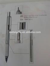 hot selling metal 4 in 1 multi-function pen