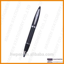Rubber grip metal ball point pen