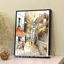 Modern Custom Street Scene Oil Painting On Canvas