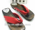 Ld-sl0664 moda verão 2015 tamancos Flip flops japonesa de madeira chinelos legais