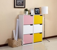 colorful entrance wooden tall shoe cabinet