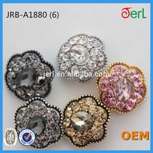 uv plating metal fashion rhinestone buttons