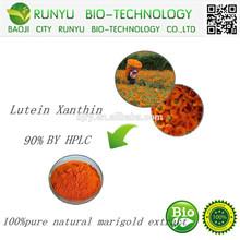 Gmp venda 100% puro orgânico natural de extrato de calêndula luteína xantinas 90%/xantinas luteína pó por hplc cas: 127-40-2
